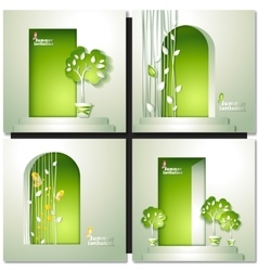 Card with door and tree vector
