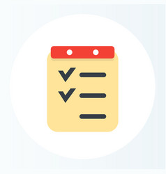 checklist icon flat style vector image