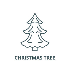 christmas tree line icon linear concept vector image