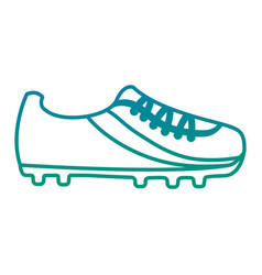 cleat shoe football soccer icon image vector image