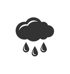 cloud with rain icon vector image