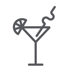 cocktail line icon bar and party drink sign vector image