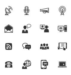 Communication icons - set 1 vector
