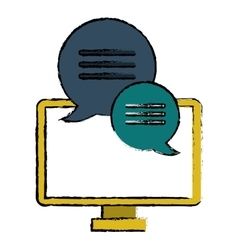 Computer conversation communication bubble speech vector