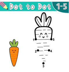 Connect digits and draw a funny carrot vector