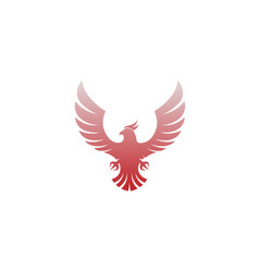 creative flying phoenix abstract logo vector image