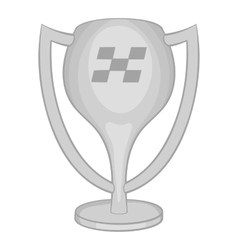 Cup for first place icon black monochrome style vector