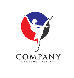 Dance club logo vector