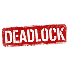 deadlock sign or stamp vector image