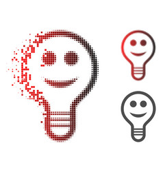 dust dot halftone smile bulb icon vector image