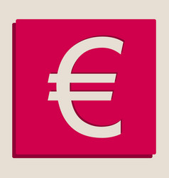 euro sign grayscale version of popart vector image