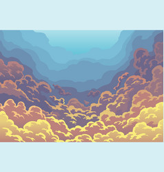 evening sky clouds sunset sky in color with vector image