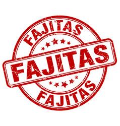 Fajitas red grunge round vintage rubber stamp vector