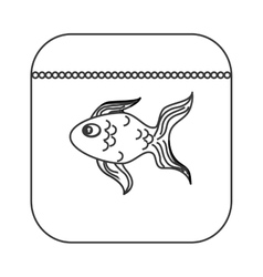 Fish food icon vector