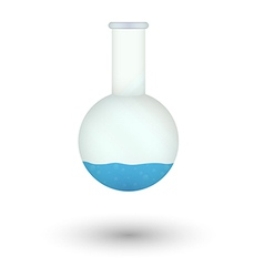 flask with blue fluid vector image