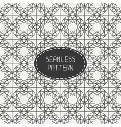 Geometric monochrome lattice seamless arabic vector image