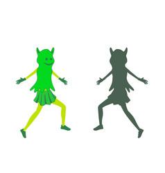 girl dress in halloween costume of ghost vector image
