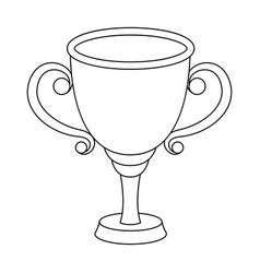 Gold cup for the first placethe award winner of vector