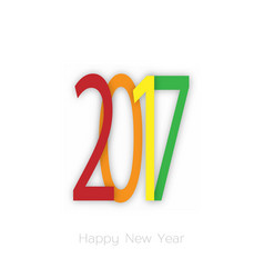 happy new year 2017 background year of rooster vector image