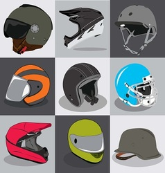 Helmet Collection vector