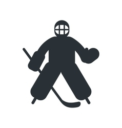 Hockey goalkeeper flat icon vector image