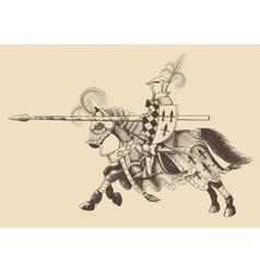 Horseback knight tournament vector
