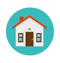 House real estate emblem vector