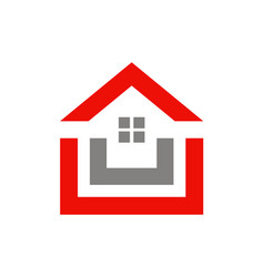 House shape realty logo vector