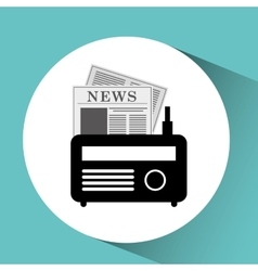 icon radio news sound design graphic vector image