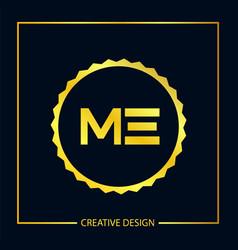 Initial letter me logo template design vector
