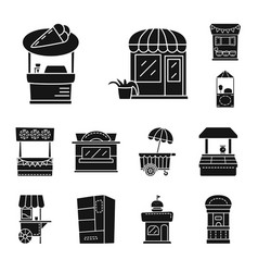 Isolated object tent and urban symbol vector