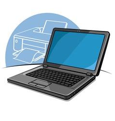 Laptop modern computer vector
