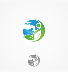 leaf plumbing service vector image