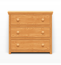 light brown wooden chest of drawers vector image