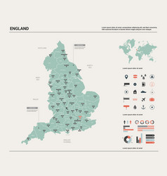 Map england high detailed country vector