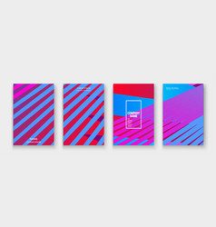 minimal cover collection design colorful pink vector image