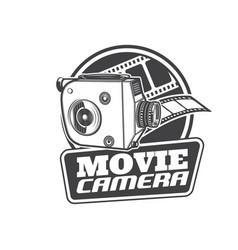 movie camera retro cinema theater video film icon vector image