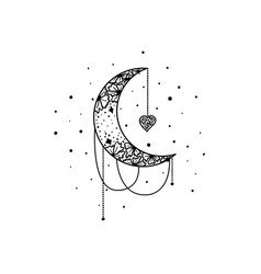 mystical moon and stars stars constellations vector image