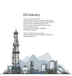 Oil Drilling Rig Brochure Flyer Design vector