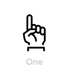 one finger hand icon editable line vector image