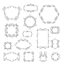 Ornamental borders and frames with swirls vector