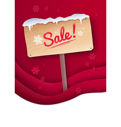 paper cut style of sale signboard vector image