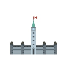 Parliament Buildings Ottawa icon flat style vector