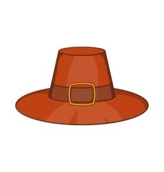 Piligrim hat icon cartoon style vector image