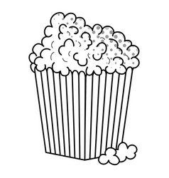 Pop corn icon black and white vector