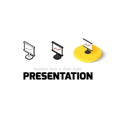 Presentation icon in different style vector image
