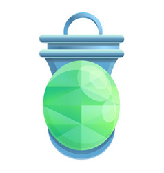 Protection amulet icon cartoon style vector