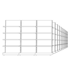 racks with shelves sketch vector image