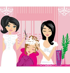 Relax at the hairdresser vector