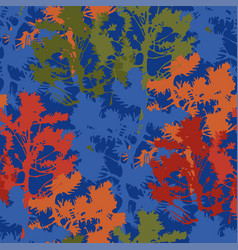 Repeated seamless pattern abstract fir trees vector